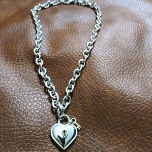 *RARE* Tiffany & Co. Silver Padlock Heart Necklace